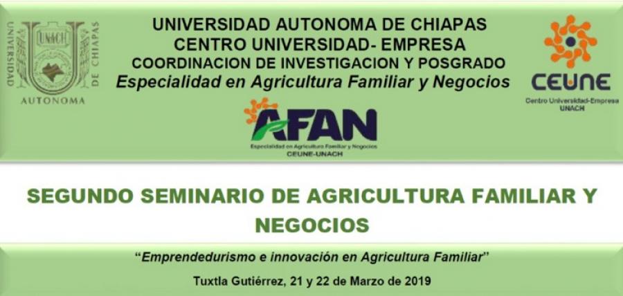 SEGUNDO SEMINARIO DE AGRICULTURA FAMILIAR Y NEGOCIOS